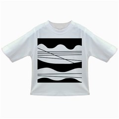 White and black waves Infant/Toddler T-Shirts