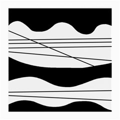 White and black waves Medium Glasses Cloth (2-Side)