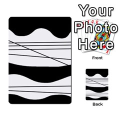 White and black waves Multi-purpose Cards (Rectangle)