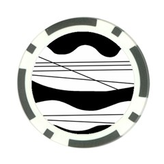 White and black waves Poker Chip Card Guards (10 pack)
