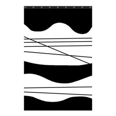 White and black waves Shower Curtain 48  x 72  (Small)