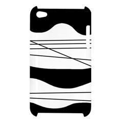 White and black waves Apple iPod Touch 4
