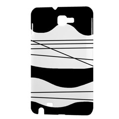 White and black waves Samsung Galaxy Note 1 Hardshell Case