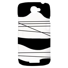 White and black waves HTC One S Hardshell Case
