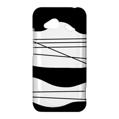 White and black waves HTC Droid Incredible 4G LTE Hardshell Case