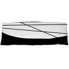 White and black waves Body Pillow Case (Dakimakura)