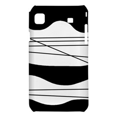 White and black waves Samsung Galaxy S i9008 Hardshell Case