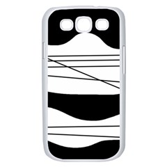 White and black waves Samsung Galaxy S III Case (White)