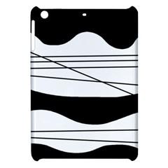 White and black waves Apple iPad Mini Hardshell Case