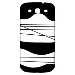 White and black waves Samsung Galaxy S3 S III Classic Hardshell Back Case