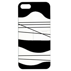 White and black waves Apple iPhone 5 Hardshell Case with Stand