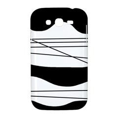 White and black waves Samsung Galaxy Grand DUOS I9082 Hardshell Case