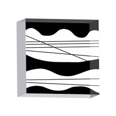 White and black waves 4 x 4  Acrylic Photo Blocks
