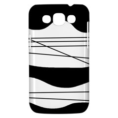 White and black waves Samsung Galaxy Win I8550 Hardshell Case