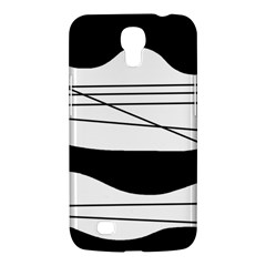 White and black waves Samsung Galaxy Mega 6.3  I9200 Hardshell Case