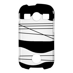White and black waves Samsung Galaxy S7710 Xcover 2 Hardshell Case