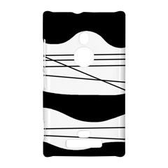 White and black waves Nokia Lumia 925