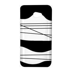 White and black waves HTC Butterfly S/HTC 9060 Hardshell Case