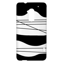 White and black waves HTC One Max (T6) Hardshell Case