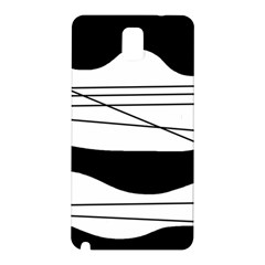 White and black waves Samsung Galaxy Note 3 N9005 Hardshell Back Case