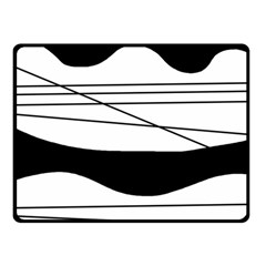 White and black waves Double Sided Fleece Blanket (Small)