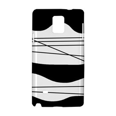White and black waves Samsung Galaxy Note 4 Hardshell Case