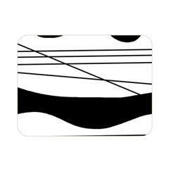 White and black waves Double Sided Flano Blanket (Mini)
