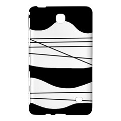 White and black waves Samsung Galaxy Tab 4 (8 ) Hardshell Case