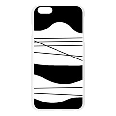 White and black waves Apple Seamless iPhone 6 Plus/6S Plus Case (Transparent)