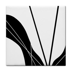 White and Black  Tile Coasters