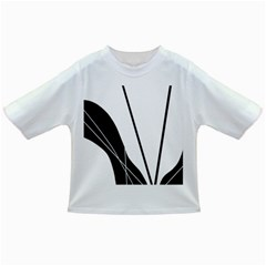 White and Black  Infant/Toddler T-Shirts