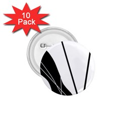 White and Black  1.75  Buttons (10 pack)