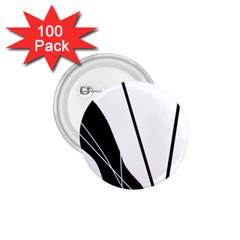 White and Black  1.75  Buttons (100 pack)