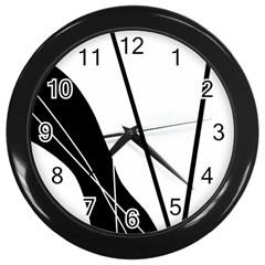 White and Black  Wall Clocks (Black)