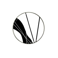 White and Black  Hat Clip Ball Marker (4 pack)