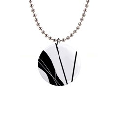 White and Black  Button Necklaces