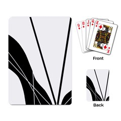 White and Black  Playing Card