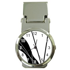 White and Black  Money Clip Watches