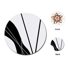 White and Black  Playing Cards (Round)