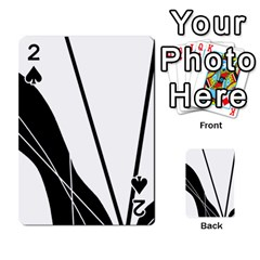 White and Black  Playing Cards 54 Designs