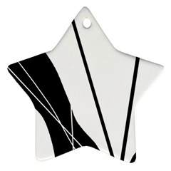 White and Black  Star Ornament (Two Sides)