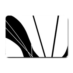 White and Black  Small Doormat