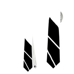 White and Black  Neckties (Two Side)