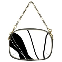White and Black  Chain Purses (One Side)