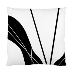 White and Black  Standard Cushion Case (One Side)