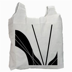 White and Black  Recycle Bag (One Side)