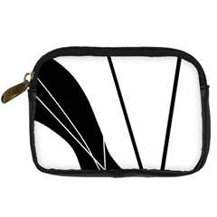 White and Black  Digital Camera Cases