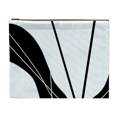 White and Black  Cosmetic Bag (XL)