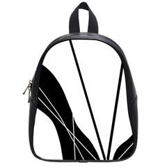 White and Black  School Bags (Small)