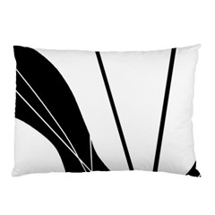 White and Black  Pillow Case (Two Sides)